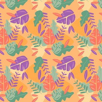 Hand drawnabstract style plants pattern