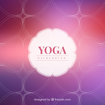 Disegnata a mano astratto yoga