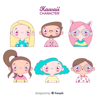 Hand drawn adorable people collection