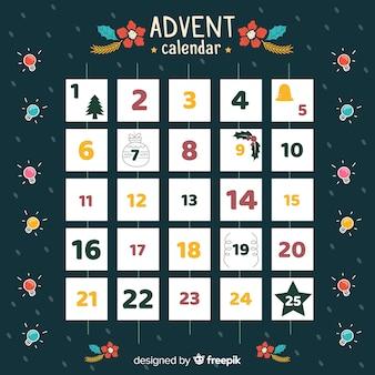 Hand drawn advent calendar