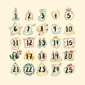 手描きのアドベントカレンダー