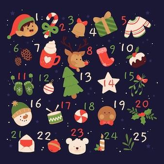 Ручной обращается адвент календарь