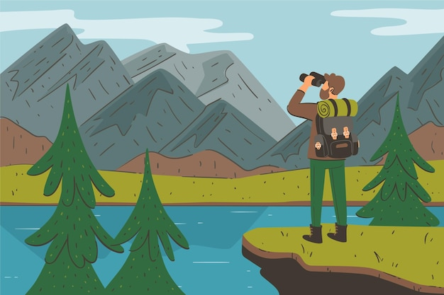 Hand drawn adventure background