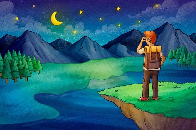 手描きの冒険の背景