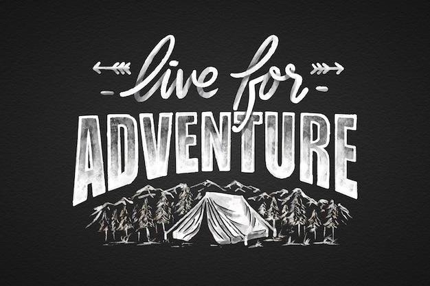 Iscrizione di avventura disegnata a mano
