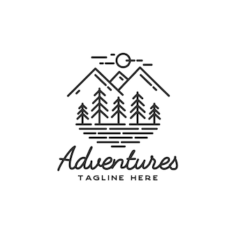 Hand drawn adventure logo