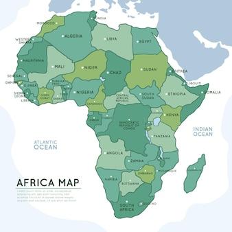 손으로 그린 아프리카지도 infographic