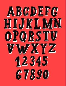 Ручной обращается алфавит.
