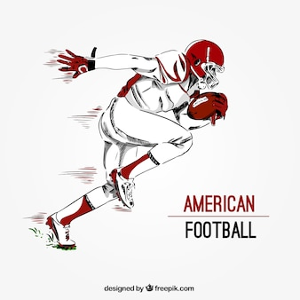 Hand drawn american football player background