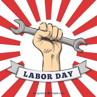 Concetto americano di festa del lavoro disegnata a mano