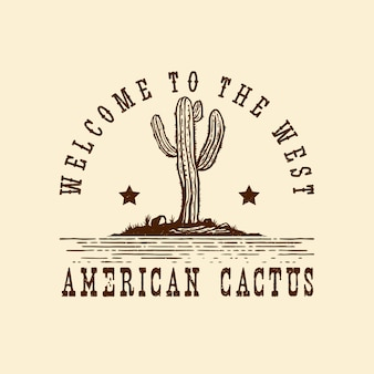 Hand drawn american wild west logo