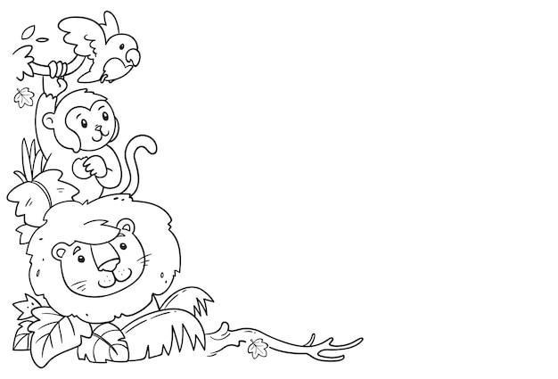 Hand drawn animals