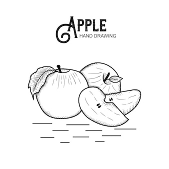 Hand drawn apple