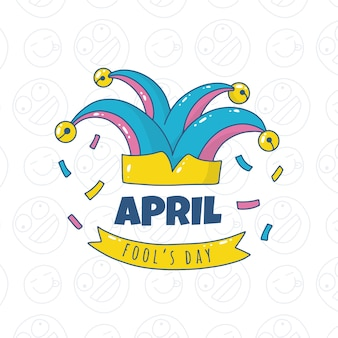 Hand-drawn april fools day design