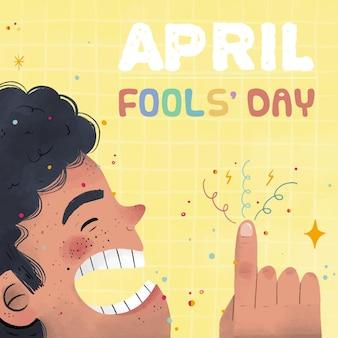 Нарисованная рукой иллюстрация дня дураков
