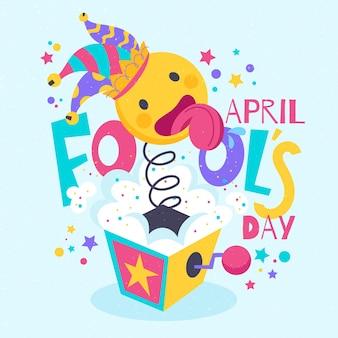 Hand drawn april fools day