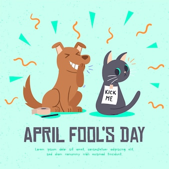 Hand drawn april fools day