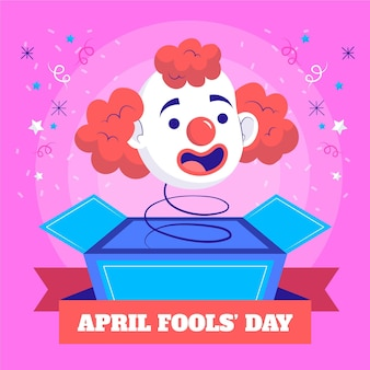 Hand drawn april fools' day