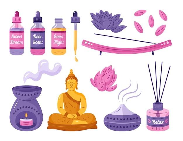 Ручной обращается пакет элементов ароматерапии