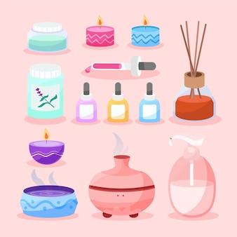 Hand drawn aromatherapy illustration pack