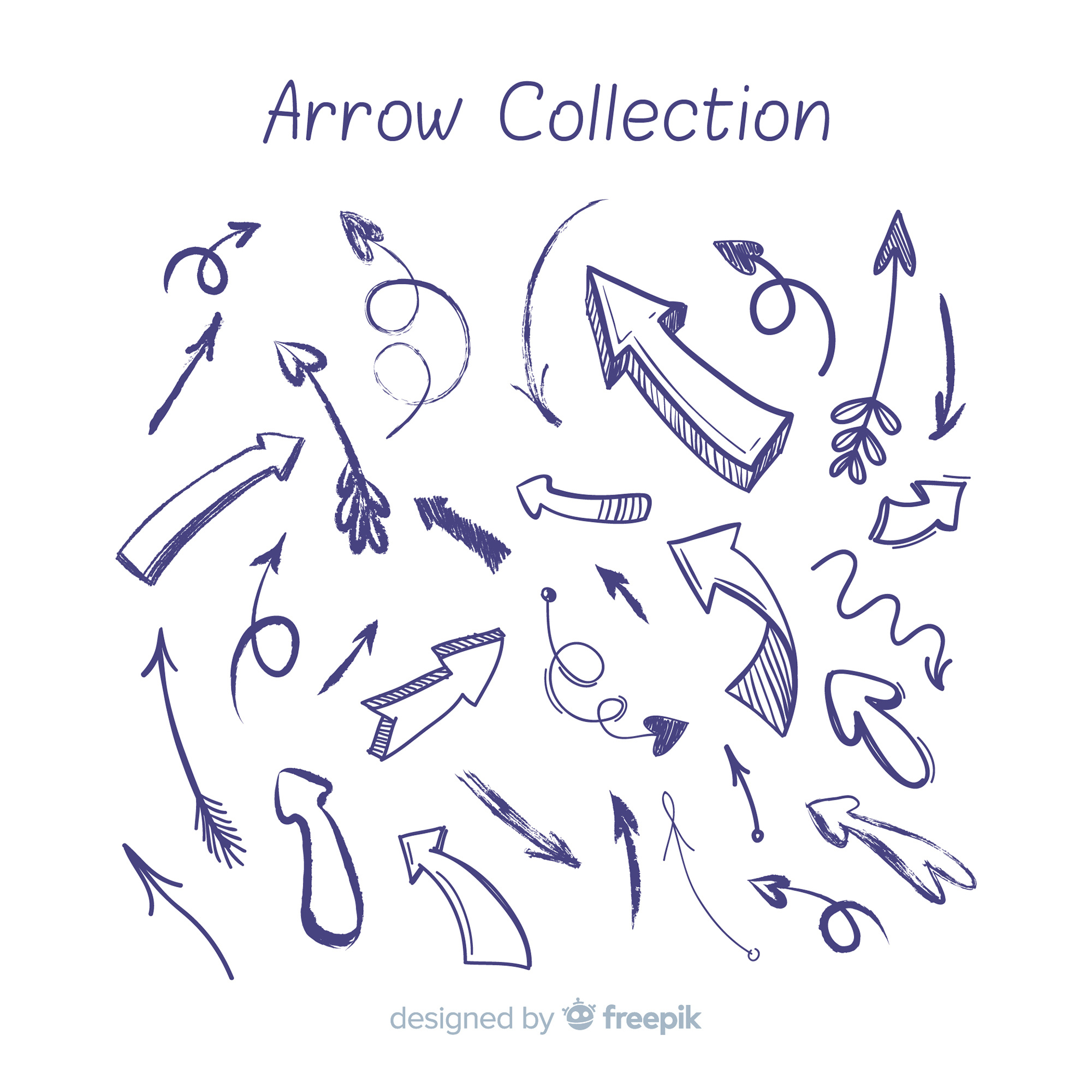 Hand drawn arrow collection