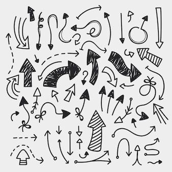 手描き矢印コレクション