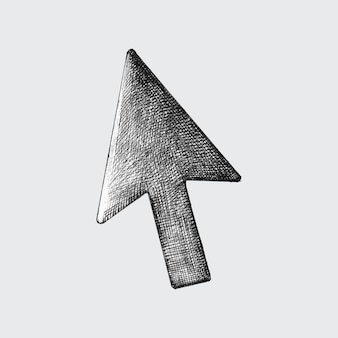 Hand-drawn arrow cursor illustration