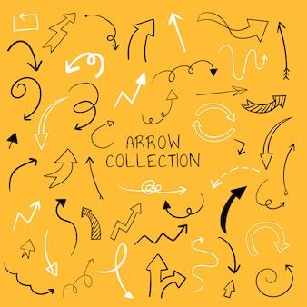 Hand drawn arrow illustration collection