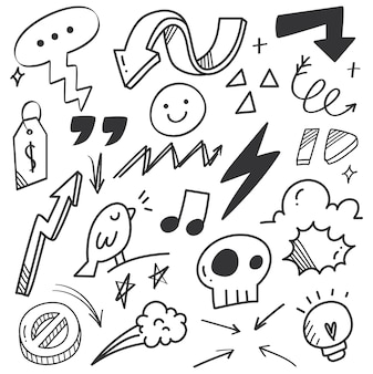 Hand drawn arrow scribble doodle
