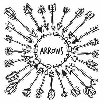 Hand drawn arrow set