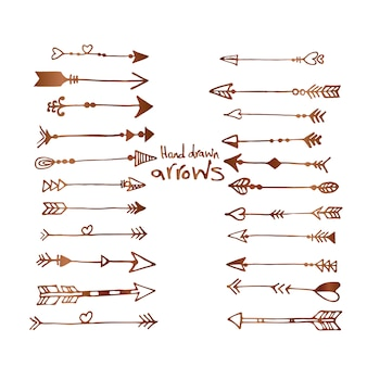 Hand drawn arrows collection