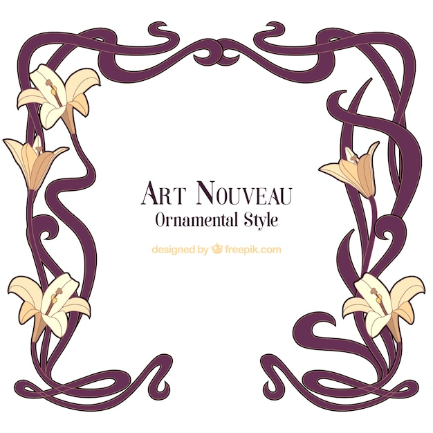 art nouveau vectors photos and psd files free download rh freepik com art nouveau vector frames free art nouveau vector ornaments