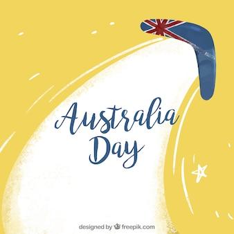 Hand drawn australia day background