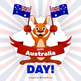 Нарисованный рукой день в австралии