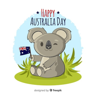 Hand drawn australia day background