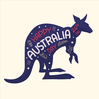 Hand drawn australia day concept