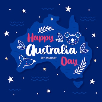 Hand drawn australia day