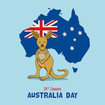 Hand drawn australia day