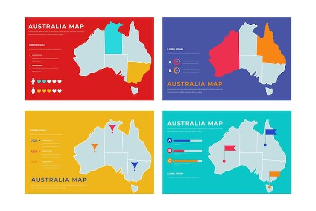 Рисованная австралия карта инфографики