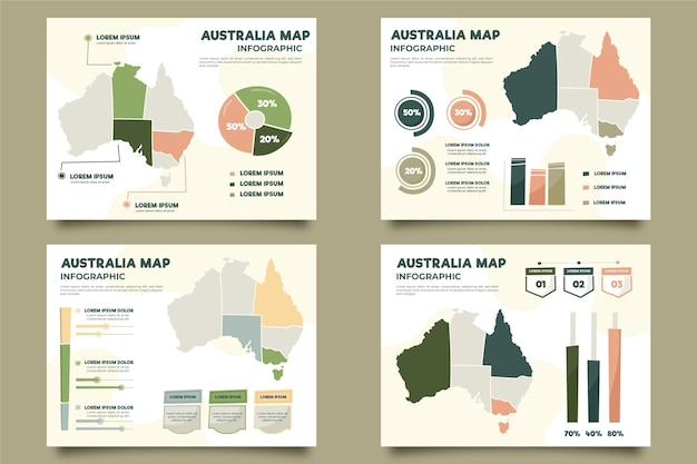 Hand-drawn australia map infographic