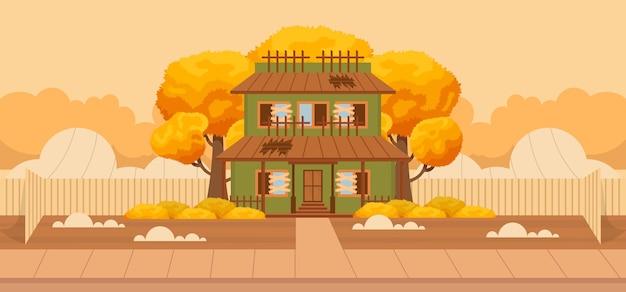 Hand drawn autumn background. vector illustration