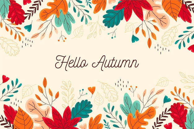 Hand drawn autumn background