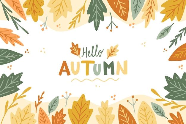 Hand drawn autumn background