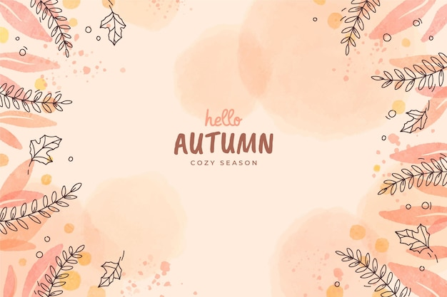 手描き秋の背景