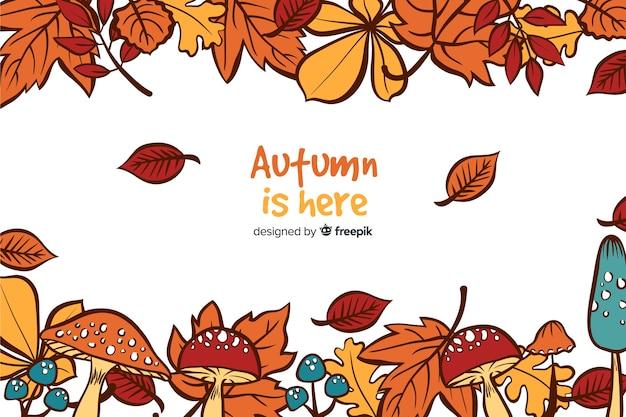 Hand drawn autumn decorative background
