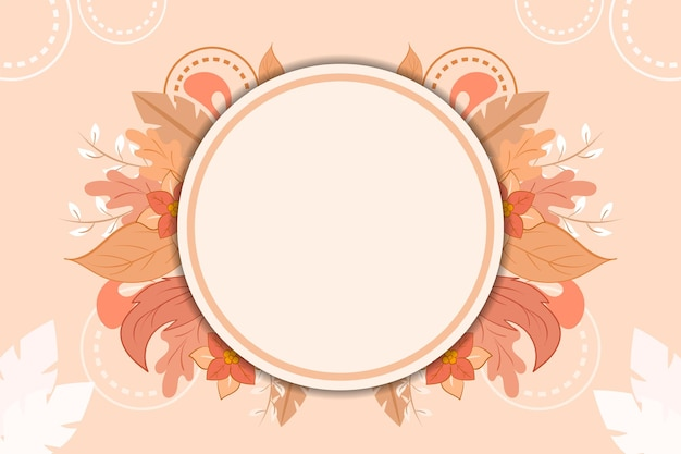 Hand drawn autumn flower background with empty space