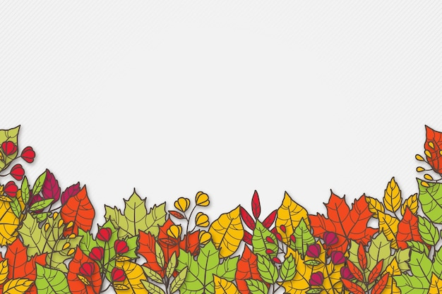 手描き紅葉背景