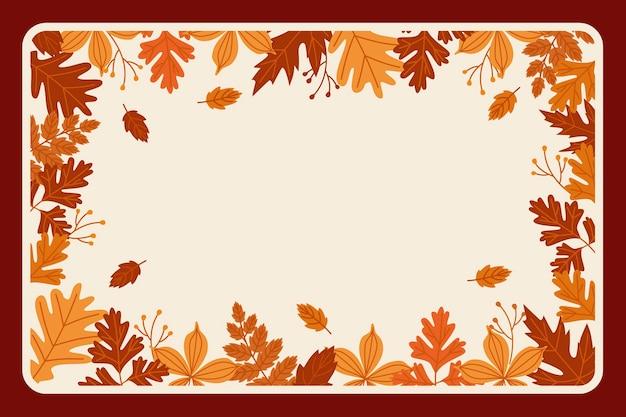 Sfondo di foglie autunnali disegnati a mano hand