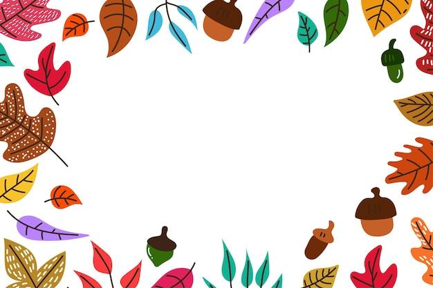 Ручной обращается осенние листья фон