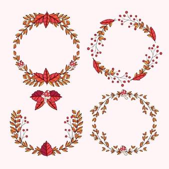 手描きの秋の装飾品コレクション